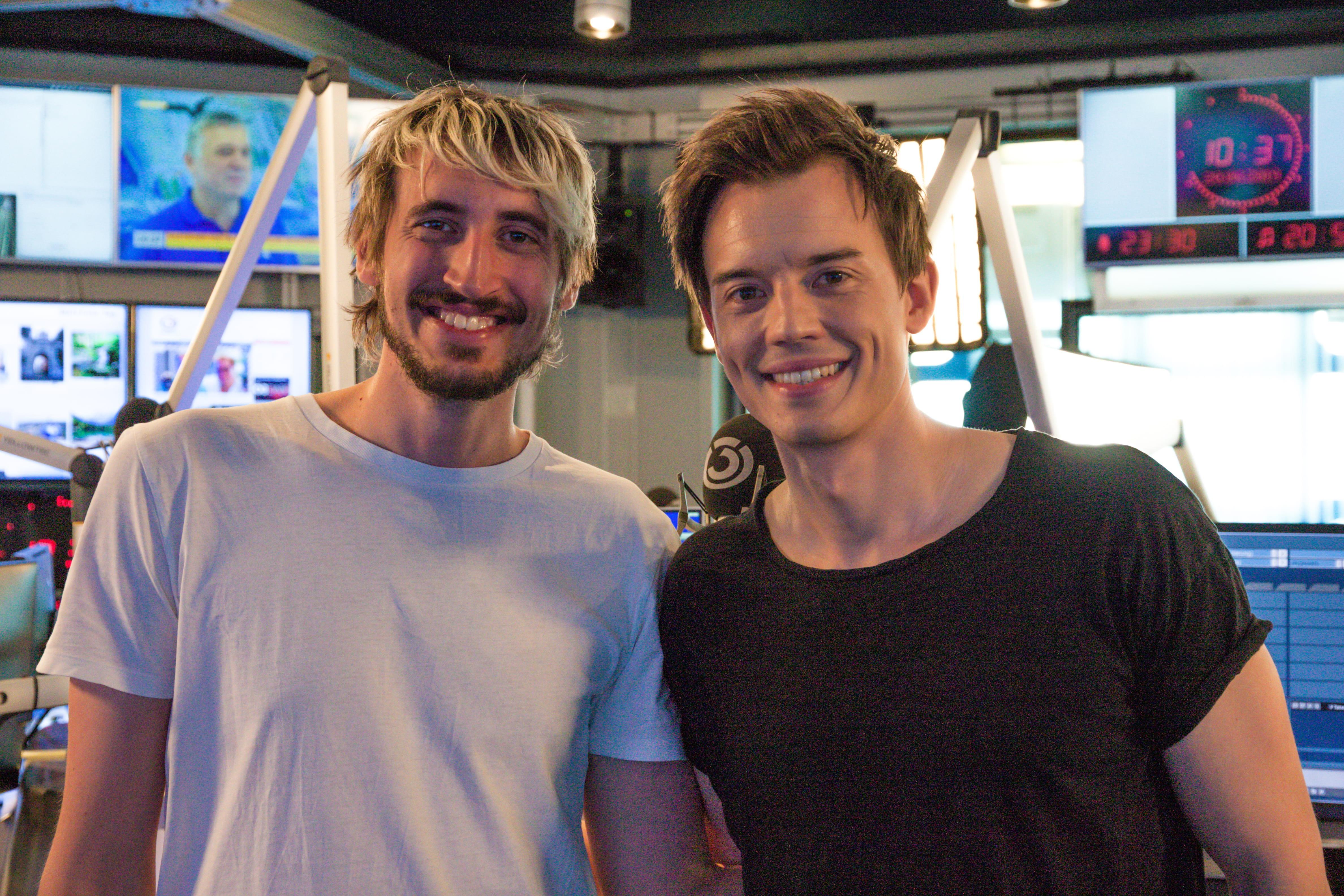 Bernie Wagner und Philipp Hansa: Fotografiert von Anastasia Lopez bei Hitradio Ö3 (ORF)