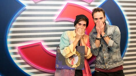 Filous mit Benny Hörtnagl: Fotografiert von Anastasia Lopez bei Hitradio Ö3 (ORF)