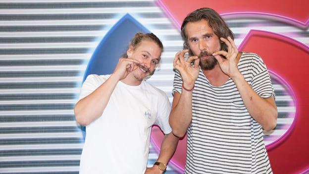 Manuel Feller mit Thomas Kamenar: Fotografiert von Anastasia Lopez bei Hitradio Ö3 (ORF)