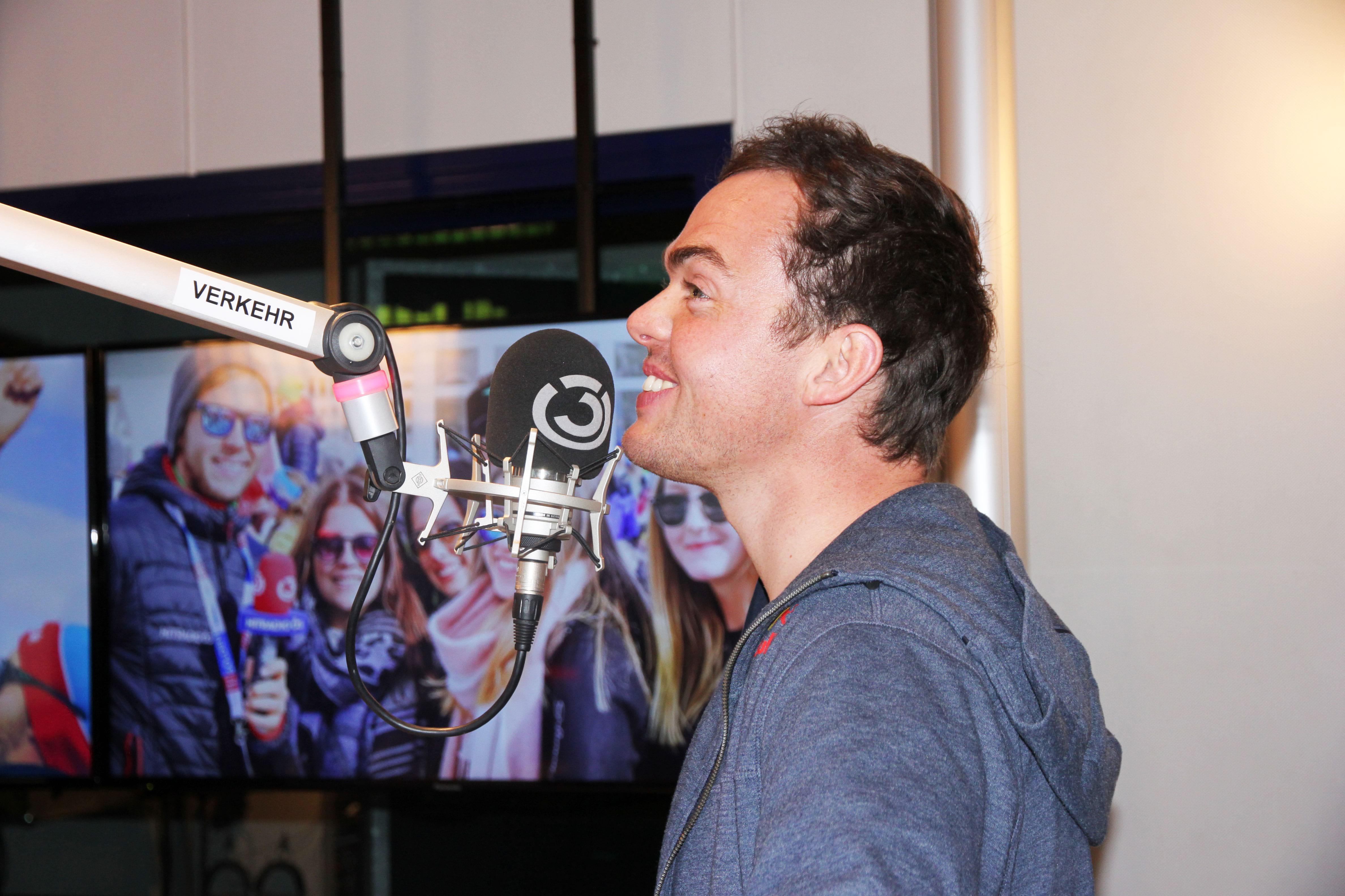 Matthias Walkner: Fotografiert von Anastasia Lopez bei Hitradio Ö3 (ORF)
