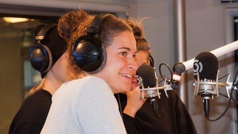 Nina Burger: Fotografiert von Anastasia Lopez bei Hitradio Ö3 (ORF)