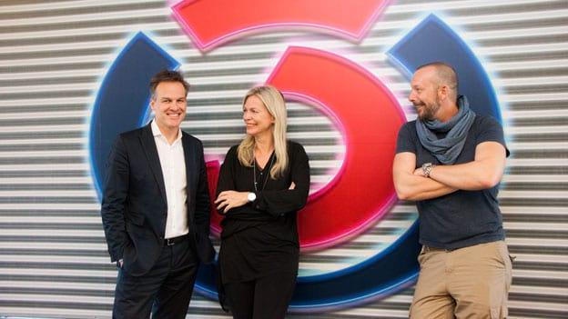 Claudia Reiterer und Tarek Leitner: Fotografiert von Anastasia Lopez bei Hitradio Ö3 (ORF)